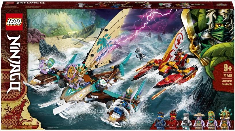 Конструктор LEGO Ninjago Морская битва на катамаране 71748, 780 шт.