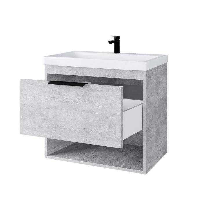 Domoletti Concrete 64 Bathroom Sink Cabinet Grey