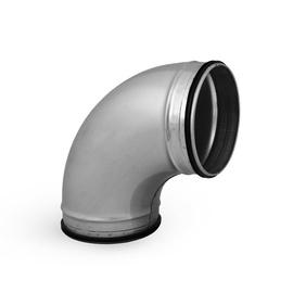 Ventiliacinė alkūnė Alnor BPL-90-100, su tarpine, 100 mm, 90°
