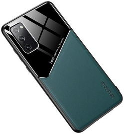 Чехол Mocco Lens Leather Back Case Samsung Galaxy S21, черный/зеленый