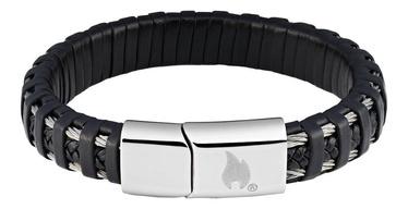 Käevõru Zippo Steel Braided Leather Bracelet 20cm