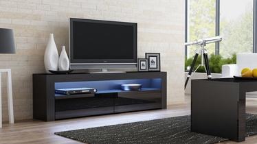 ТВ стол Pro Meble Milano 157 Black, 1575x350x500 мм