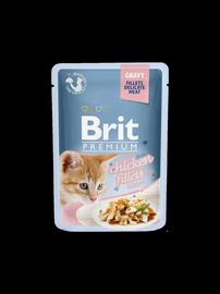 Brit Premium Chicken Fillets In Gravy For Kitten 85g