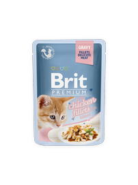 Konservuotas ėdalas katėms Brit Premium Cat Delicate Chicken for Kitten in Gravy, 85 g