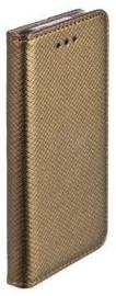 Mocco Smart Magnet Book Case For Apple iPhone X Dark Gold
