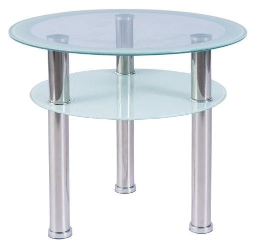 Kafijas galdiņš Signal Meble Modern Purio D Tempered Glass, 600x600x500 mm