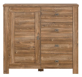 Black Red White Brussel Chest Of Drawers 40x110x100.5cm Oak
