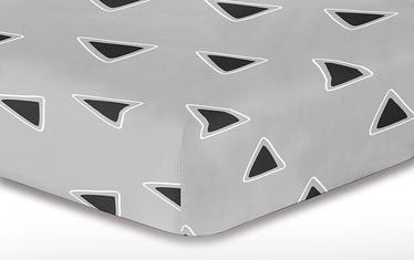 Palags DecoKing Hypnosis, melna/pelēka, 200x220 cm, ar gumiju