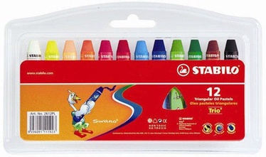 Stabilo Trio Triangular Oil Pastels 12pcs