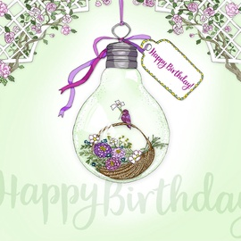 Clear Creations Birthday Basket Card CL2806