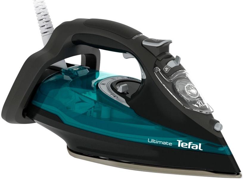 Утюг Tefal Ultimate FV9785E0, черный/зеленый
