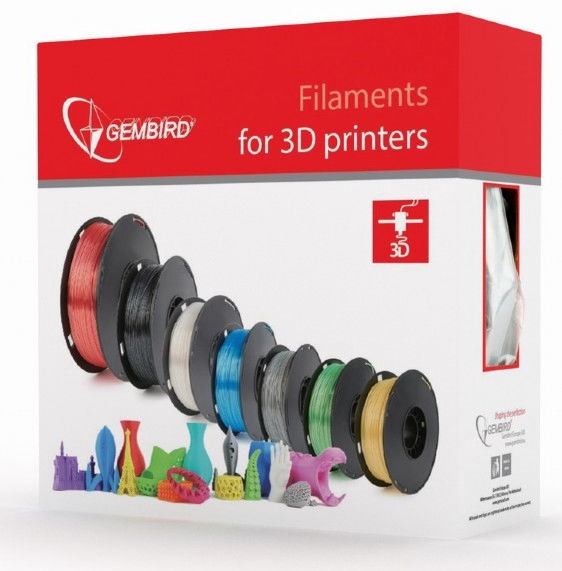 Расходные материалы для 3D принтера Gembird 3DP-PLA Natural, 330 м, белый
