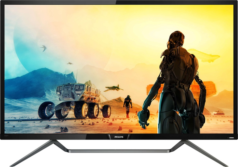 "Monitorius Philips 4K HDR With Ambiglow 436M6VBPAB/00, 42.5"", 4 ms"