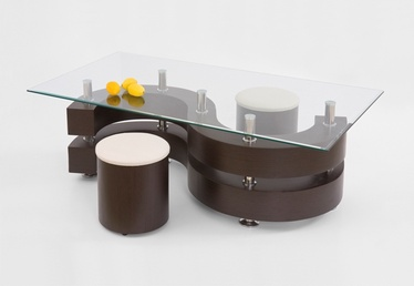 Kavos staliukas Nina 2, su 2 pufais