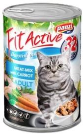 Konservuotas ėdalas katėms Fit Active Burstin' Out, su mėsa ir morkomis, 415 gr