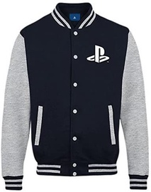 Licenced Playstation Buttons Men College Jacket Navy/Grey XL