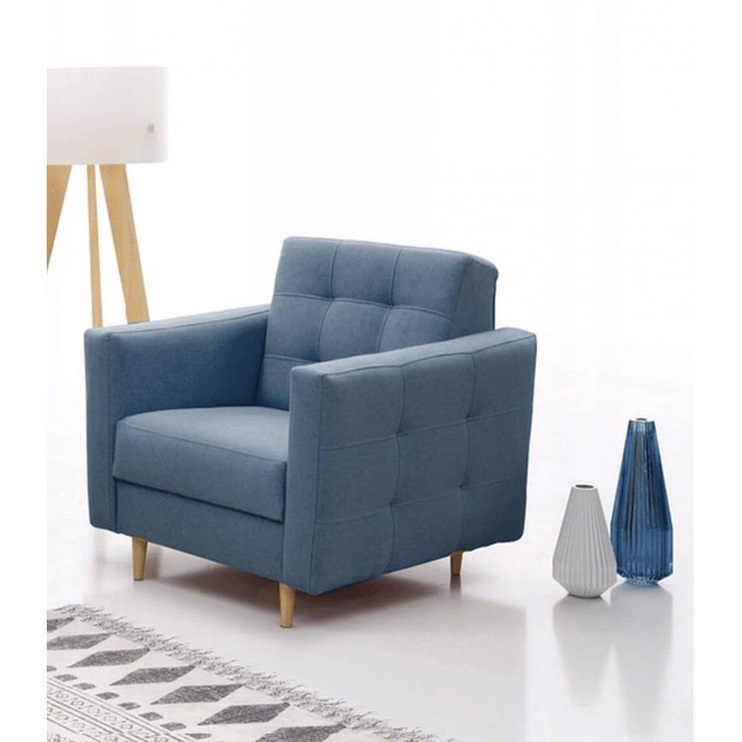 Fotelis Idzczak Meble Godivo Blue, 88x95x89 cm