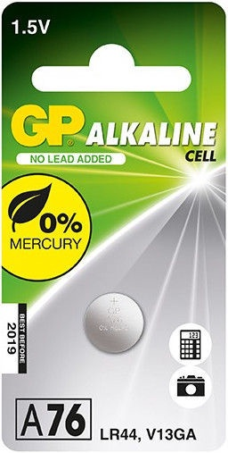 GP Electronic Device Battery LR44 A76F 1x