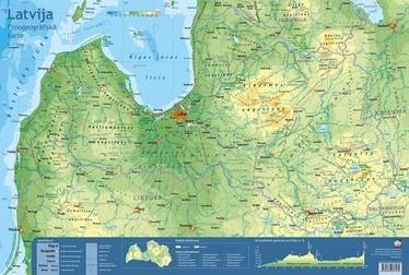 Jāņa Sēta Desk Pad Physiographic Map Latvia