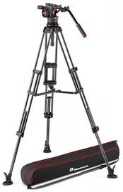 Manfrotto Nitrotech N12 Video Head With Twin Leg Tripod MS 100/75mm