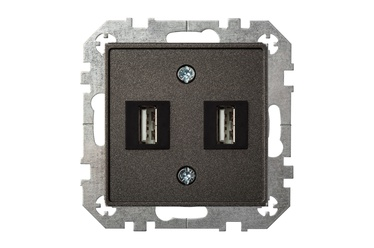Liregus USB Socket UK-2-01 Black