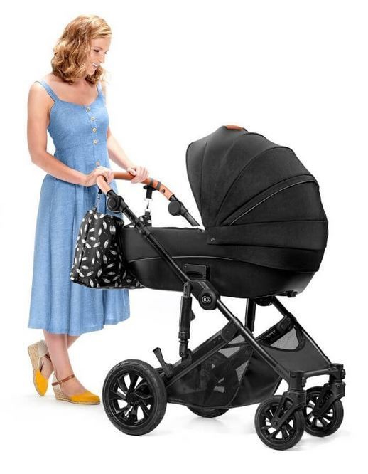 Universalus vežimėlis KinderKraft Prime Lite 3in1 With Bag Black