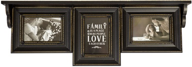 Home4you Family Photo Frame/Shelf 3x Antique Black