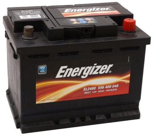 Аккумулятор Energizer E-L2480, 12 В, 56 Ач, 480 а