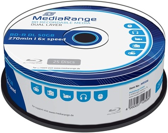 MediaRange MR508 BD-R Dual Layer 50GB 25 Pack Spindle