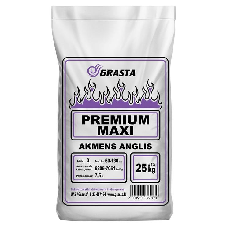 Akmens anglys Grasta Premium Maxi, 60-130 mm, 25 kg