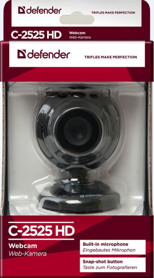 4ea0e2bb9a9 Defender Webcam C-2525HD Black - Krauta.ee