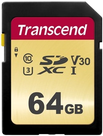 Transcend 500S 64GB SDXC CL10 UHS-I TS64GSDC500S