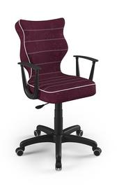 Детский стул Entelo Norm VS07, черный/фиолетовый, 400x370x1010 мм