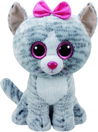 Pliušinis žaislas TY Beanie Boos Cat Kiki Gray, 24 cm