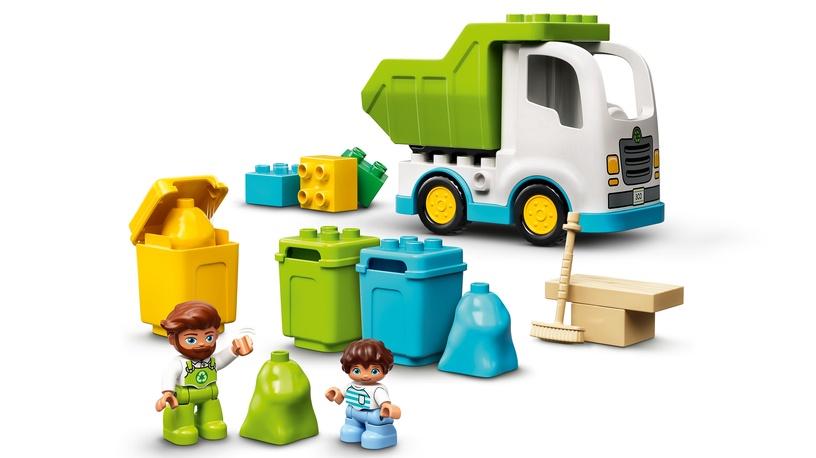 Конструктор LEGO Duplo Мусоровоз и контейнеры для раздельного сбора мусора 10945, 19 шт.