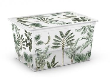 Ящик Kis, 50 л, прозрачный/зеленый