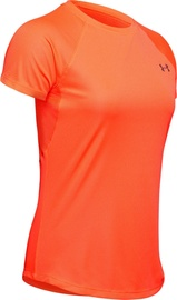Under Armour Womens Speed Stride Short Sleeve Shirt 1326462-836 Orenge L