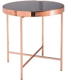 Kafijas galdiņš Signal Meble Gina C Black/Copper, 430x430x450 mm