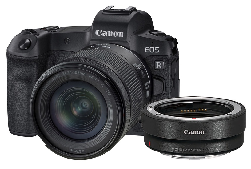 Canon EOS R + RF 24-105mm F4-7.1 IS STM + Mount Adapter EF-EOS R