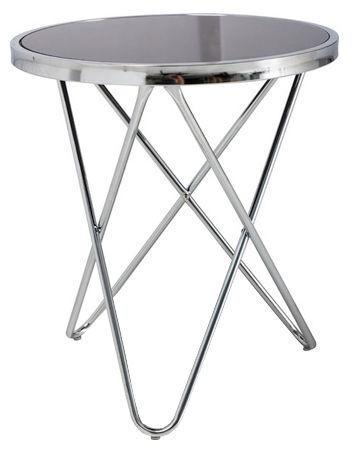 Kafijas galdiņš Signal Meble Fabia C Black, 450x450x500 mm