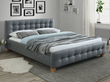 Кровать Signal Meble Barcelona Grey, 160 x 200 cm