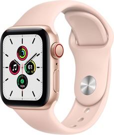 Išmanusis laikrodis Apple Watch SE GPS LTE + Cellular, 40mm Aluminum Pink Sand Sport Band, aukso