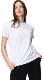 Audimas Womens Short Sleeve Tee White Printed S
