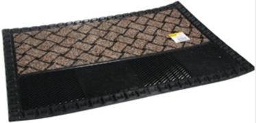 Durvju paklājs Verners, brūna/melna, 680x480 mm