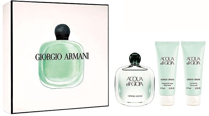 Giorgio Armani Acqua di Gioia 100ml EDP + 75ml Body Lotion + 75ml Shower Gel