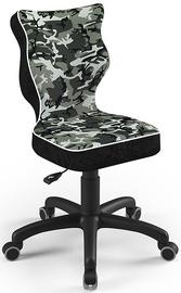 Bērnu krēsls Entelo Petit Size 4 ST33, melna/pelēka, 350 mm x 830 mm