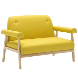 Диван VLX 2-Seater 246652, желтый, 69 x 115 x 75 см