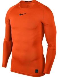 Nike Men's T-shirt Pro Top Compression LS 838077 819 Orange 2XL
