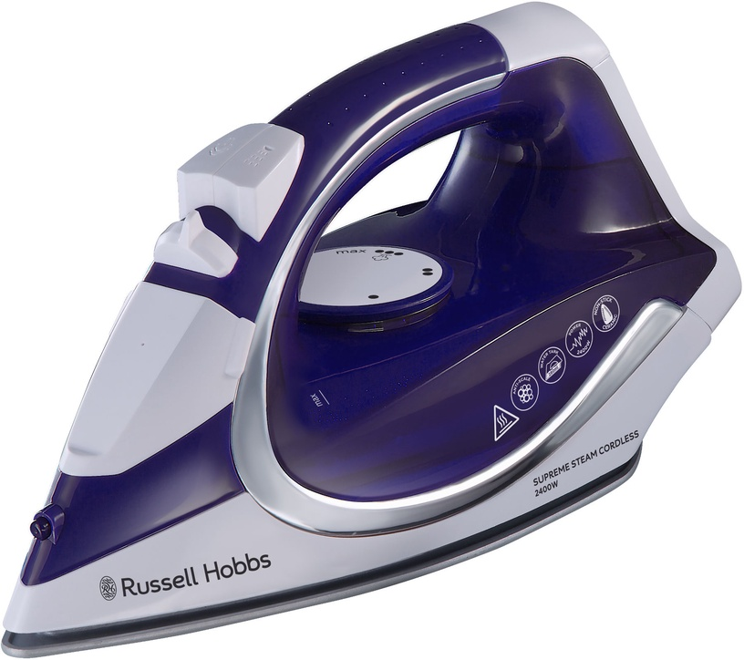 Утюг Russell Hobbs Supreme Steam 23300-56, белый/фиолетовый