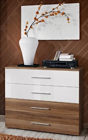 ASM Go Chest Of Drawers Plum/White